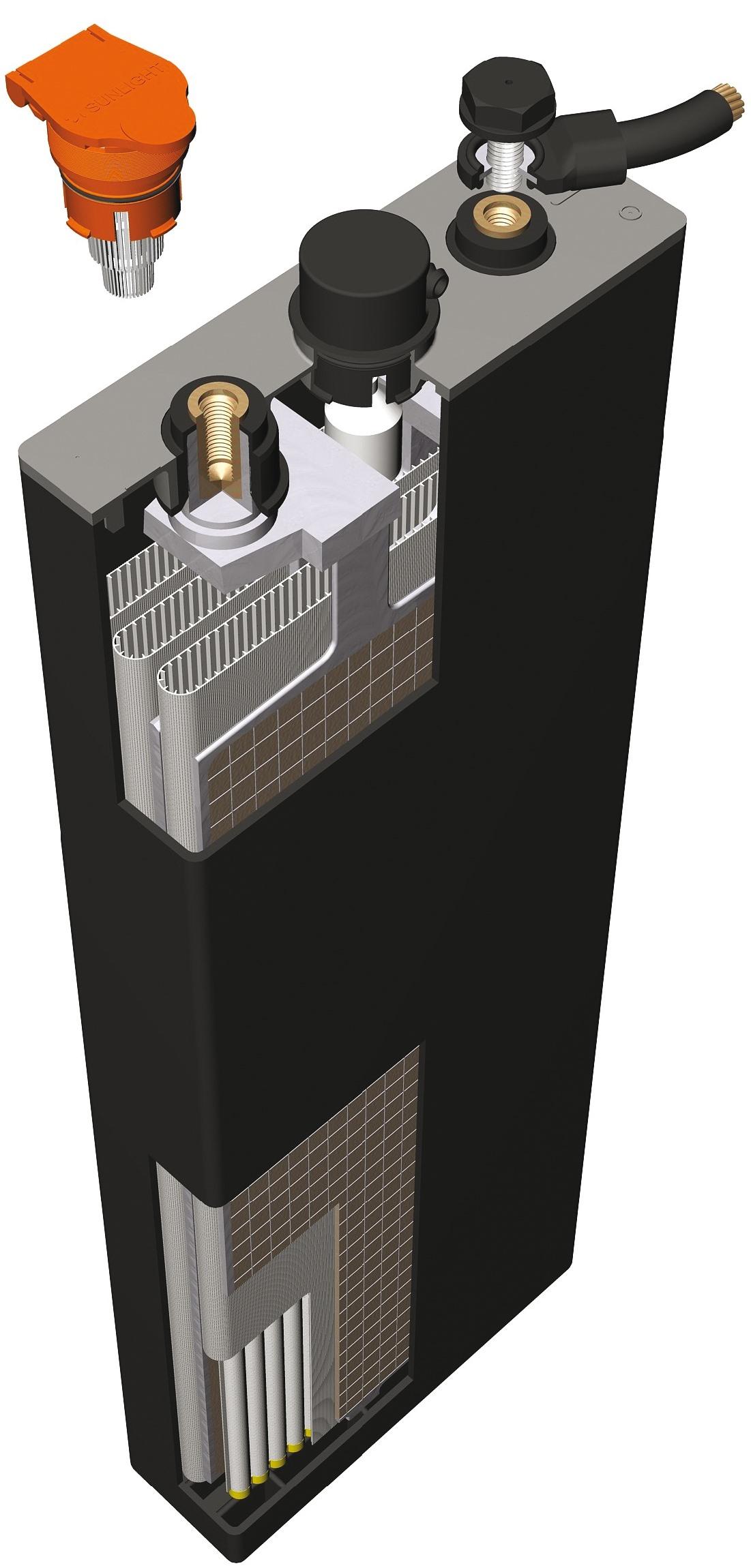 Банка для тяговой аккумуляторной батареи